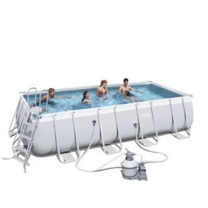 24ft power steel pool, very affordable and durable
