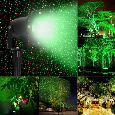 WATERPROOF RED & GREEN LAWN PROJECTOR LIGHTS