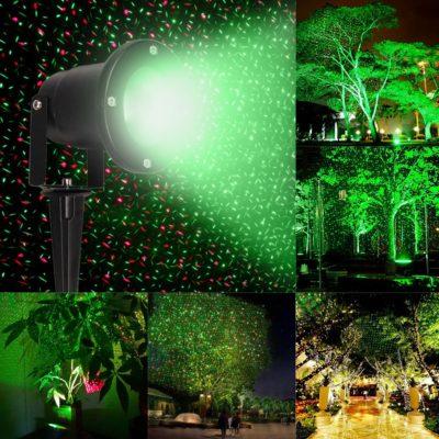 WATERPROOF RED & GREEN LAWN PROJECTOR LIGHTS