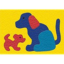 CREPE RUBBER PUZZLE-DOG& PUPS