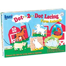 DOT-2-DOT LACING: FARM ANIMAL