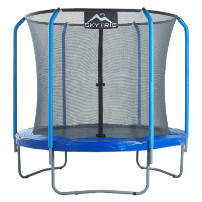 SKYTRIC 8FT TRAMPOLINE WITH TOP RING ENCLOSURE
