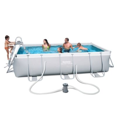 POWER STEEL 18′ x 9′ x 48″ RECTANGULAR POOL SET