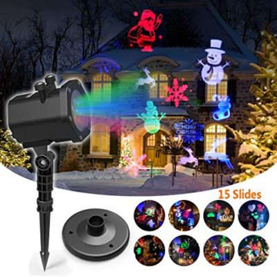LED PROJECTOR LIGHT + 15 FESTIVE SLIDES