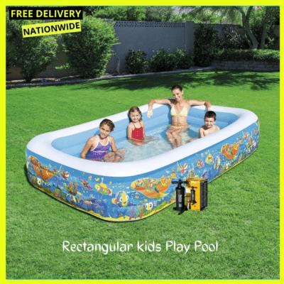 Bestway Rectangular Play Pool + Inflatable Pump