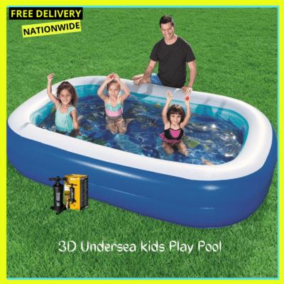 Bestway 3D – Undersea Adventure Pool+ Inflatable Pump