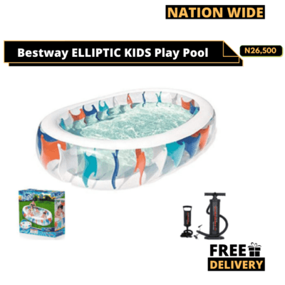 BESTWAY- ELLIPTIC PLAY POOL + Manual pump