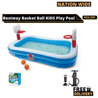 BASKETBALL PLAY POOL + Manual Pump