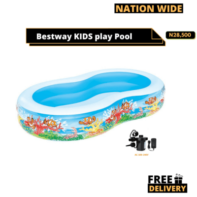 BESTWAY kIDS PLAY POOL + ELECTRIC PUMP