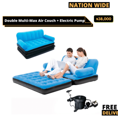 Double Multi-Max Air Couch + Electric Pump