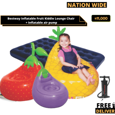 Bestway Inflatable Fruit Kiddie Lounge Chair + Inflatable air pump