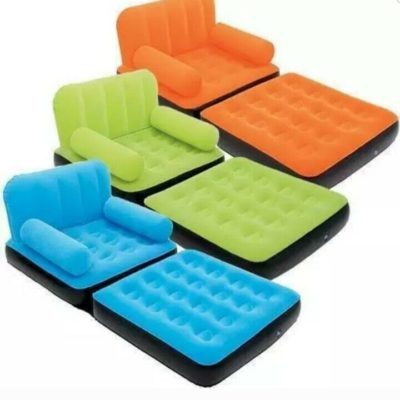 Multi-max Inflatable Single Air Bed Couch/Sofa Lounger With Electric Pump