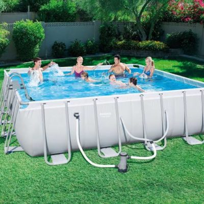 POWER STEEL 16′ x 48′ RECTANGULAR ABOVE GROUND POOL SET