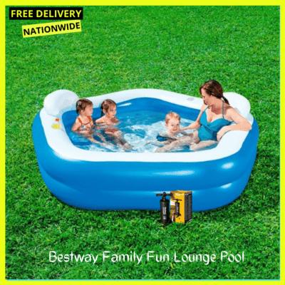 Bestway Family Fun Lounge Pool + Inflatable pump