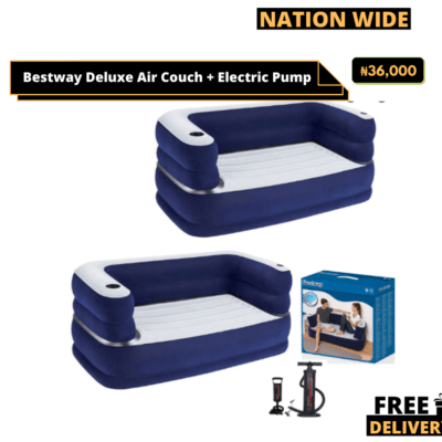 Bestway Deluxe Air Couch + Electric Pump