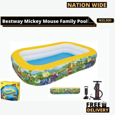 Bestway Mickey Mouse Family Pool '103″ x 69″ x 20″ Family Pool